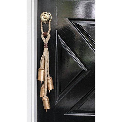 Natural Lodge Jute Rope Door Hanger with 5 Bells – 23-in