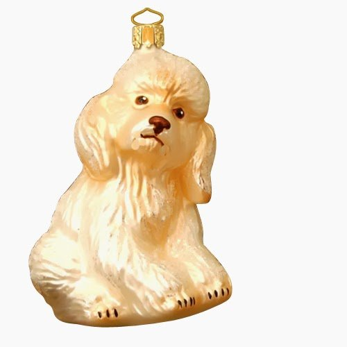 Ornaments To Remember Poodle (White) Hand-Blown Glass Ornament