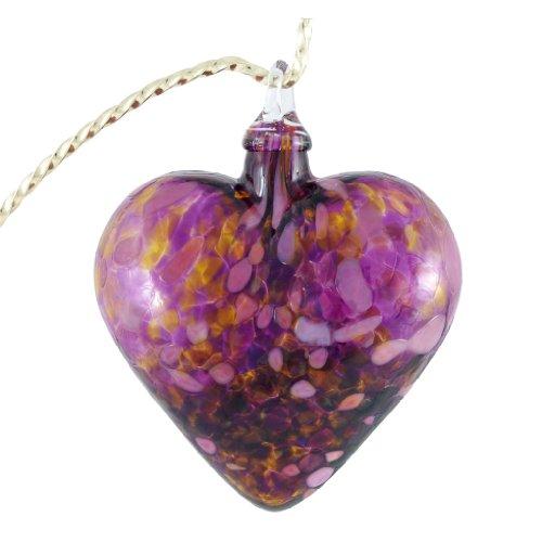 Glass Eye Studio Hand Blown Glass Heart Ornament – Iris