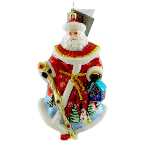 Christopher Radko WOODLAND KINDNESS Blown Glass Store Exclusive Ornament Santa