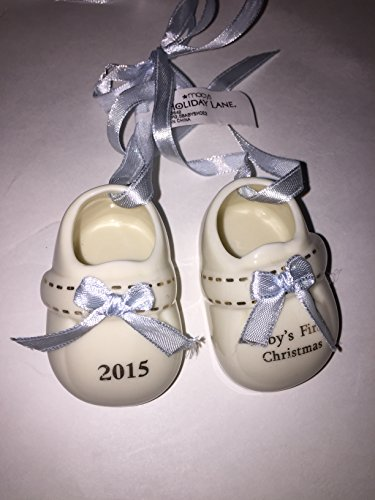 2015 Holiday Lane Baby's 1st Booties Christmas Ornament