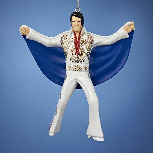 Kurt Adler 4.5″ Elvis IN Eagle Suit W/cape Blow Mold Ornament