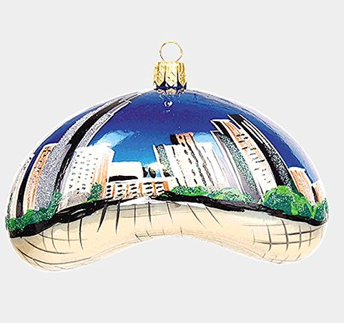 Chicago Bean During the Daytime Polish Blown Glass Christmas Ornament Decoration