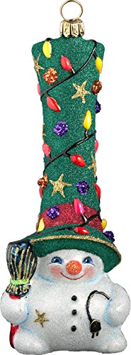 Glitterazzi Gnome Snowman Hit The Lights Ornament by Joy to the World