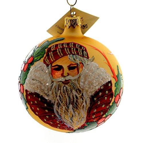 Christina's World PAJAMA CAP SANTA Glass Ornament Holly Ball Gif472
