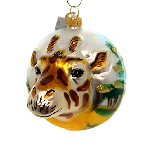 Christina's World GIRAFFE FIGURAL Glass Africa Ornament Zoo849