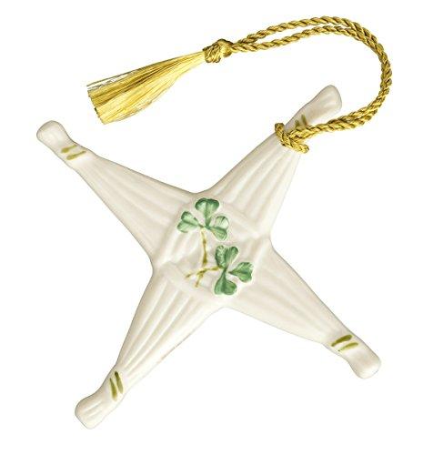 Belleek 1994 St. Brigids Cross Ornament, 4-Inch, White