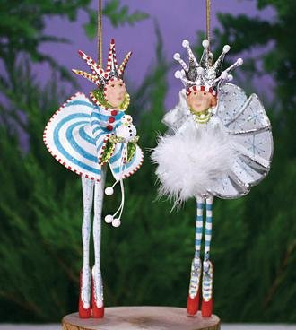 Patience Brewster Snow King & Queen Ornament 2 Assorted