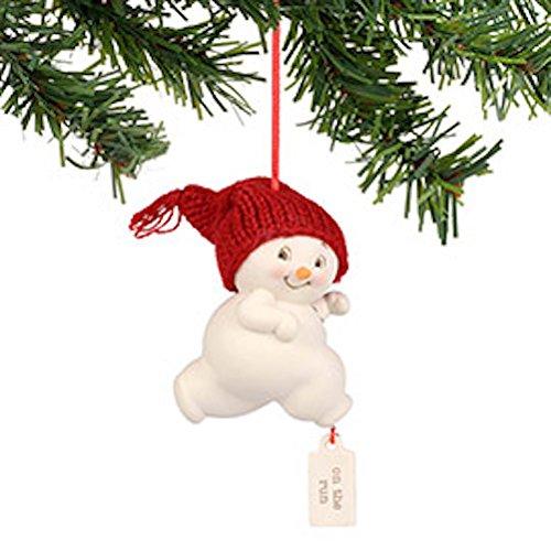 Department 56 Snowpinions Snowman Ornament On The Run