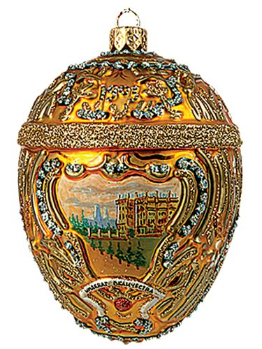 Faberge Inspired Hermitage Peter the Great Egg Polish Glass Christmas or Easter Ornament
