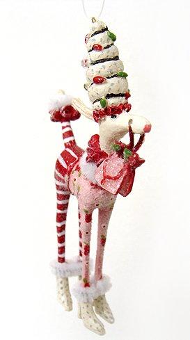 Department 56 Krinkles Mini Fashion Diva Poodle Christmas Ornament #36600