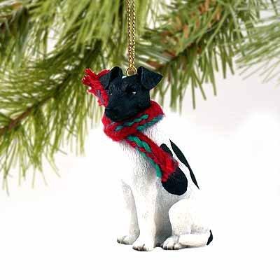 Fox Terrier Miniature Dog Ornament – Black & White