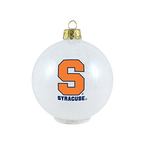 NCAA Syracuse Orange LED Color Changing Ball Ornament, 2.625″, White