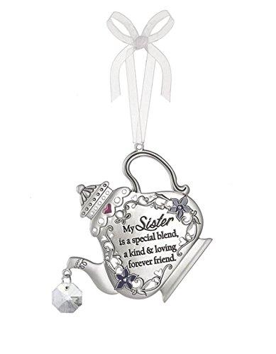 Ganz Home Decor Christmas / Spring Mother Daughter Friend Teapot Ornaments (Sister ER40116)
