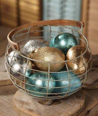 Bethany Lowe Large Metallic Egg Ornament