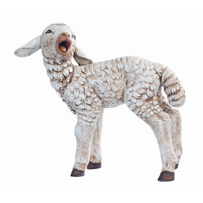 Scale Standing Turned Head Sheep Figurine Christmas Decoration