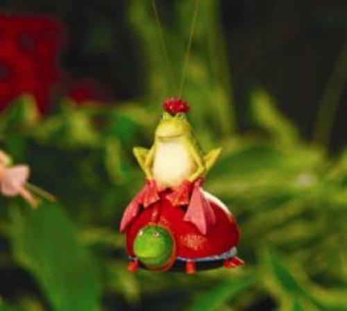 Patience Brewster Krinkles Frog & Ladybug Ornament