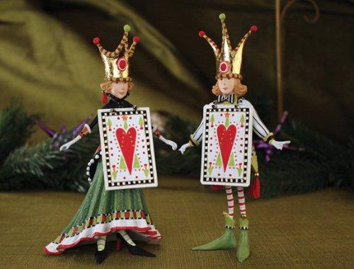 Patience Brewster Krinkles Jack & Jacqueline of Hearts Ornament 2013 2 Assort.