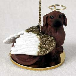 Dachshund Angel Dog Ornament – Red