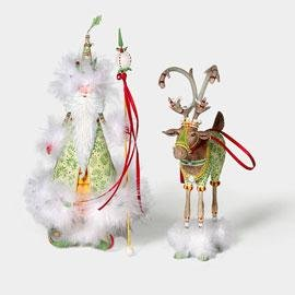 Patience Brewster Christmas Krinkles Hopeful Santa & His Helper Ornament Retired – Ornaments 56-36605KRINK