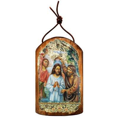 G. Debrekht Christening Icon Wooden Ornament