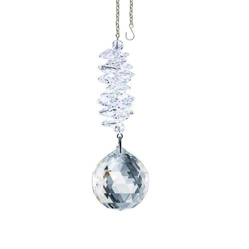Swarovski Crystal Ornament Cascade, Clear Ball Prism, Amazing Rainbow Maker Crystal Cascade Suncatcher Adorned with Swarovski Crystal with Certificate