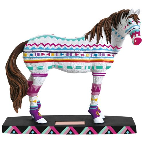 Westland Giftware Horse of a Different Color Figurine, 6.5-Inch, Native Patterns Mustang