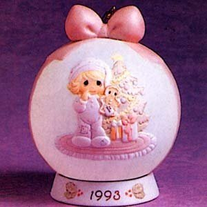 Wishing You The Sweetest Christmas Hanging Ornament dated 1993 Precious Moments #530190