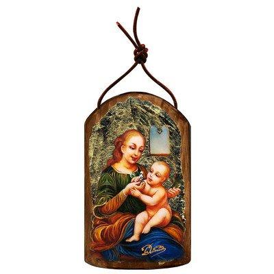 G. Debrekht Madona and Child Icon Wooden Ornament