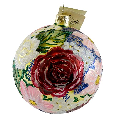 Christina's World SPRING FLORAL BOUQUET Glass Ornament Flower Ball Flo650