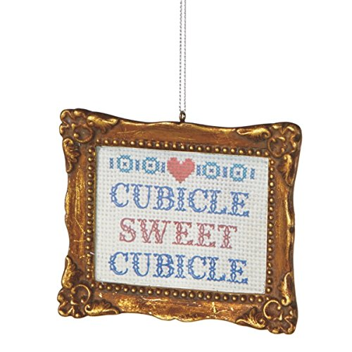 """Whimsical """"Cubicle Sweet Cubicle"""" Holiday Ornament"""