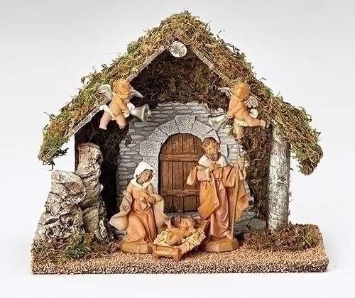 5pc Set 5″ Figurine Wedding Creche Nativity Fontanini By Roman