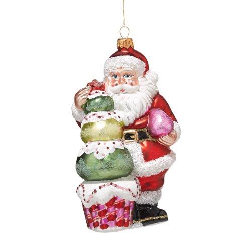 Department 56 Signature Collection Goody Gumdrop Santa Ornament, 6.75-Inch