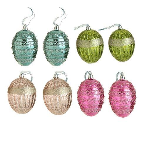 RAZ Easter Antiqued Egg Ornaments-Bag of 8