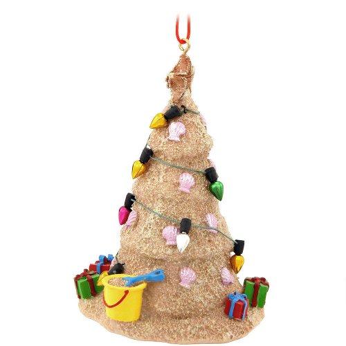 Sand Beach Christmas Tree Hanging Resin Christmas Ornament