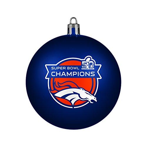 NFL Denver Broncos super Bowl 50 Champions Shatterproof Ornament, 3.125 Inch , Blue