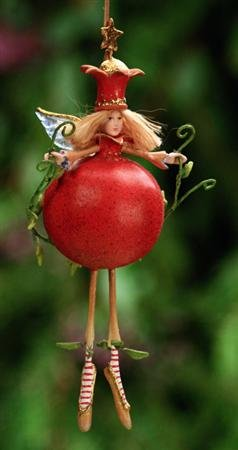 Patience Brewster Krinkles **Persephone Pomegranate Ornament** 09-30267