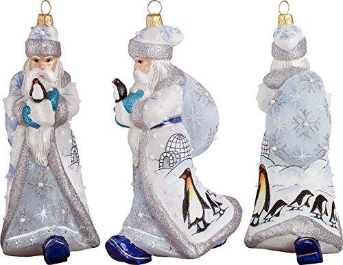 Glitterazzi Penguin Family Santa Ornament by Joy to the World