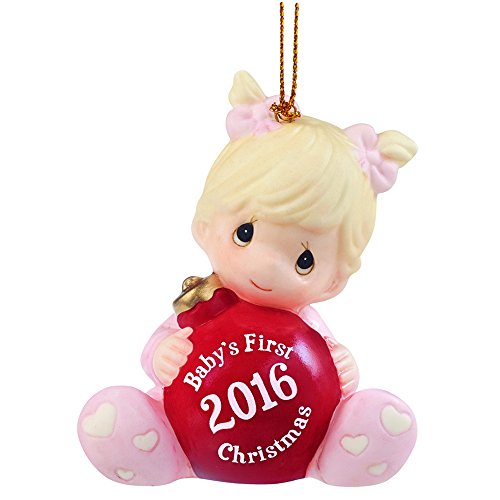 Precious Moments Christmas Gift, Baby's First Christmas 2016, Porcelain Bisque Ornament, 161005