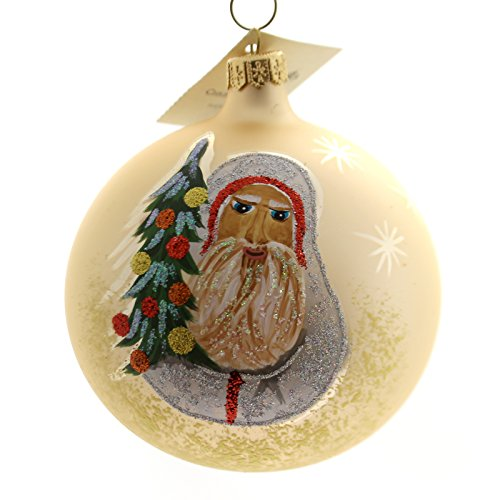Christina's World BELSNICKLE SANTA Glass Ornament Santa Ball Gif536