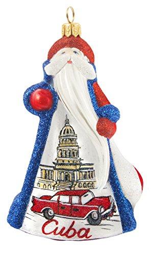 Glitterazzi International Cuba Santa Ornament by Joy to the World