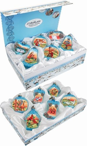 G.Debrekht 73102-B12 General Holiday 12 Days of Christmas Set of 12 Ornaments 3 in.
