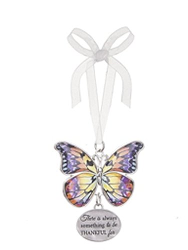 There is Always Something to be Thankful For Metal Butterfly Ornament – By Ganz