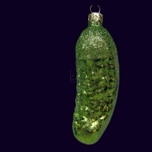 Kurt Adler Noble Gems Glitter Pickle Ornament