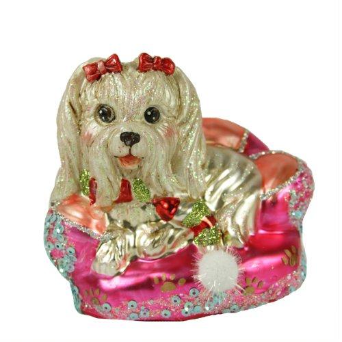 "7″ December Diamonds ""Schnauzer on Sofa"" Christmas Ornament #79-79867"