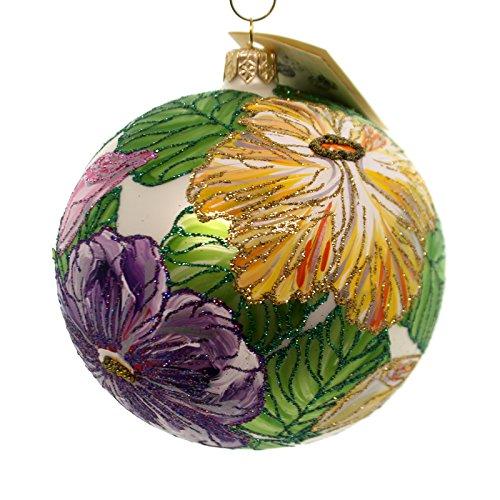 Christina's World WEDDING NOSEGAY Glass Ball Ornament Flowers Gar893