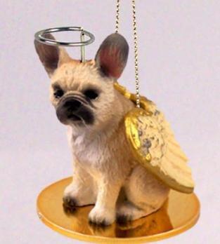 FRENCH BULLDOG FAWN Angel Dog Christmas Ornament MINIATURE FIGURINE New DTA73B