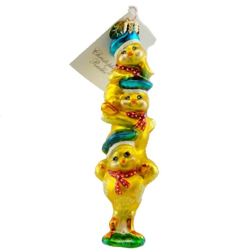 Christopher Radko CHICKS AHOY Blown Glass Ornament Sailor Spring