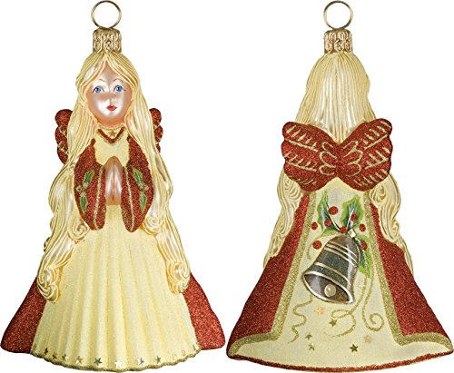 Glitterazzi Eggnog Angel Ornament by Joy to the World