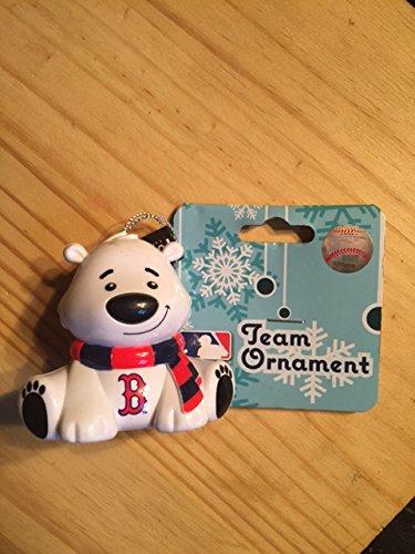 Boston Red Sox Polar Bear Team Christmas Ornament